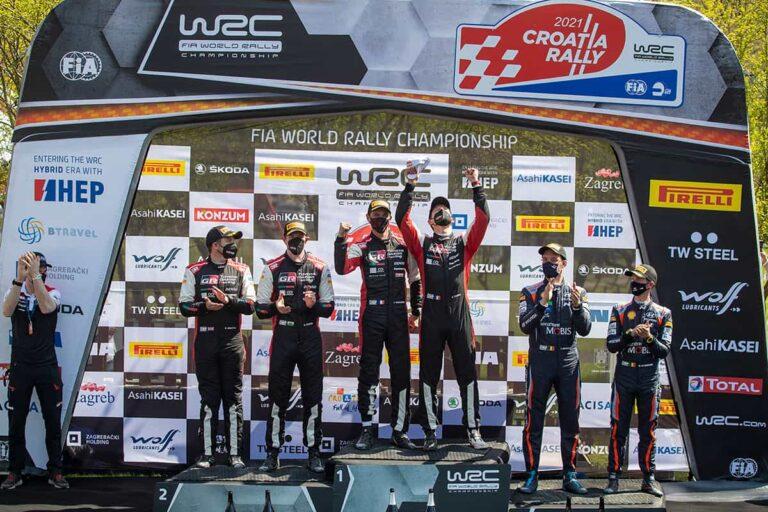 TOYOTA GAZOO Racing Raih Juara 1 dan 2 Reli Kroasia 2021