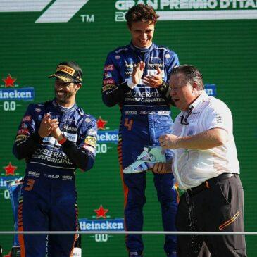 Setelah Menang Seri F1 Italia 2021, Daniel Ricciardo Meraih 2 Hal Menggembirakan